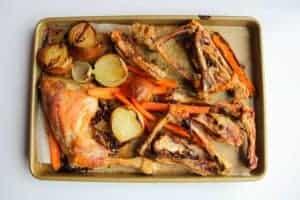 Roasted bones for chicken stock