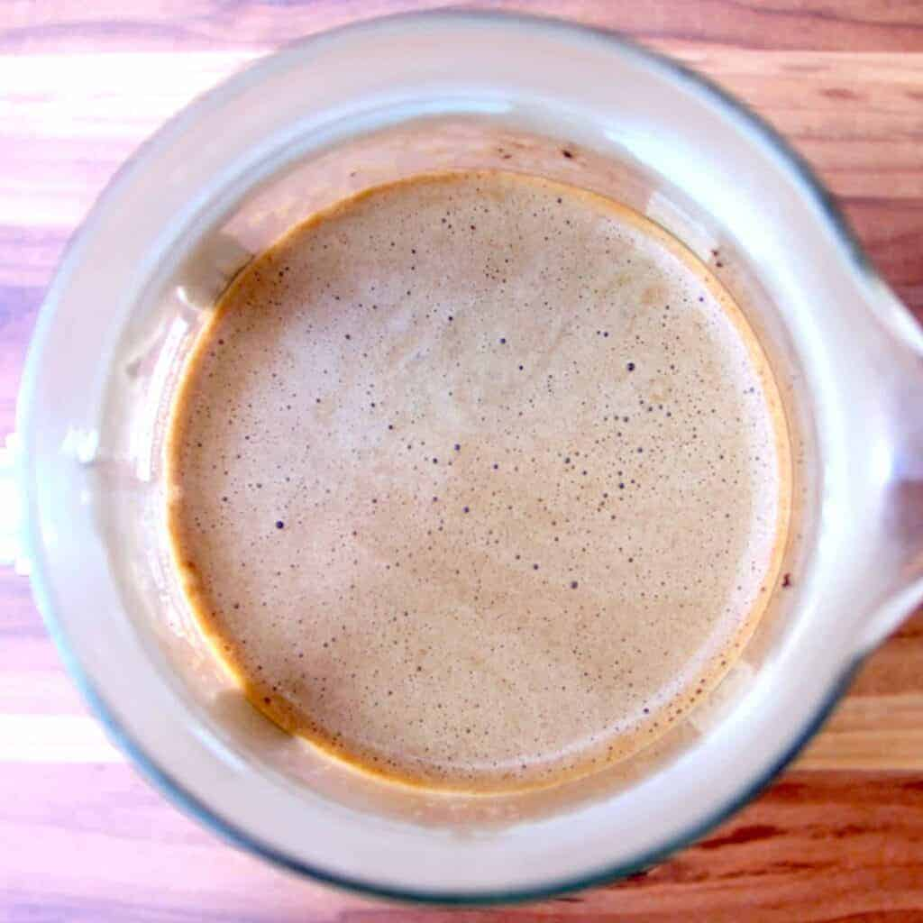 The crema of the Wakuli coffee.
