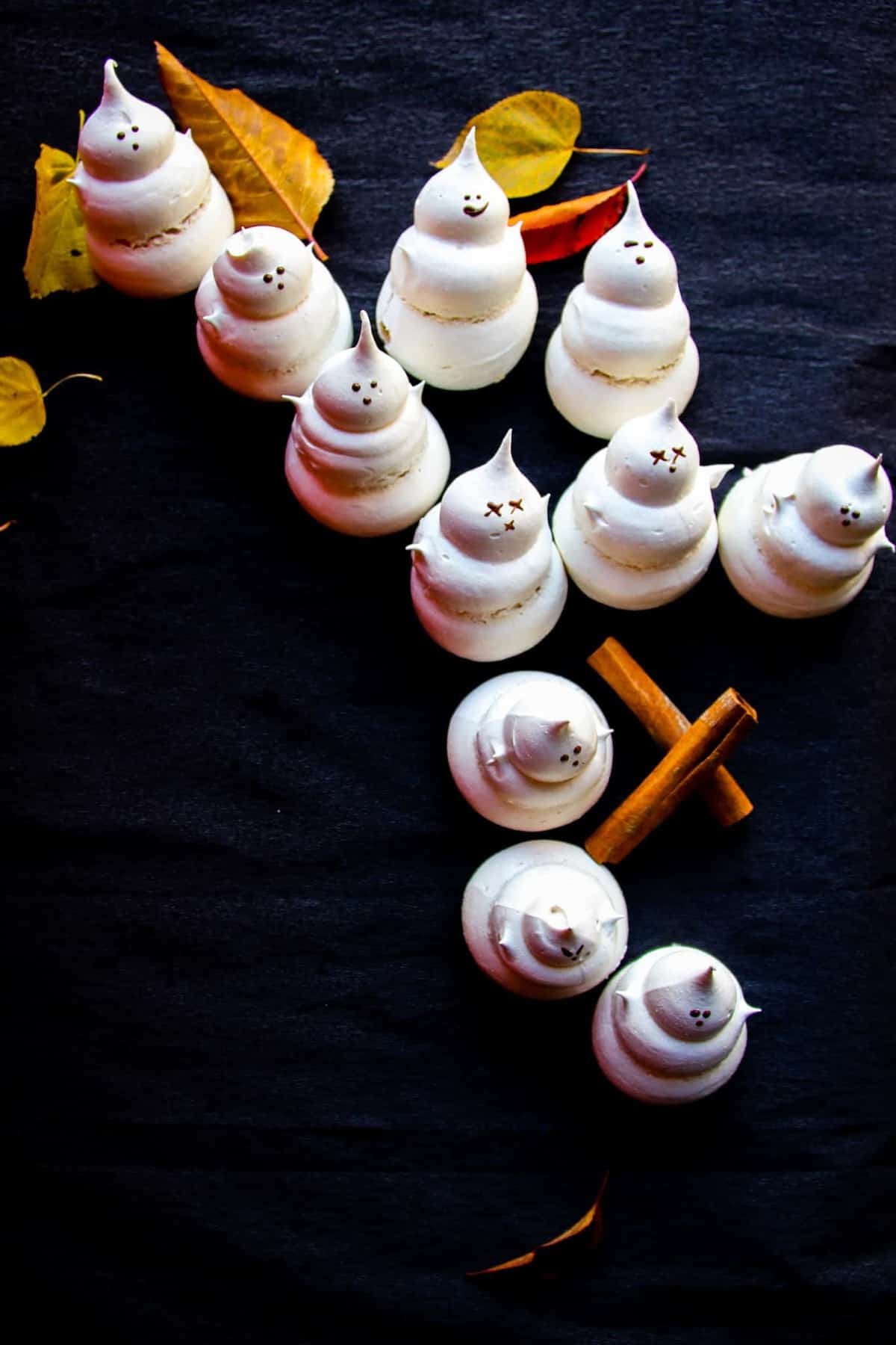 A recipe for cinnamon ghost meringue that's easily the most hilarious Halloween dessert.