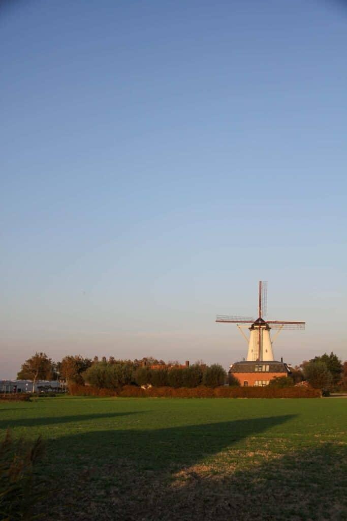 A windmill in Zeeland, the Netherlands.