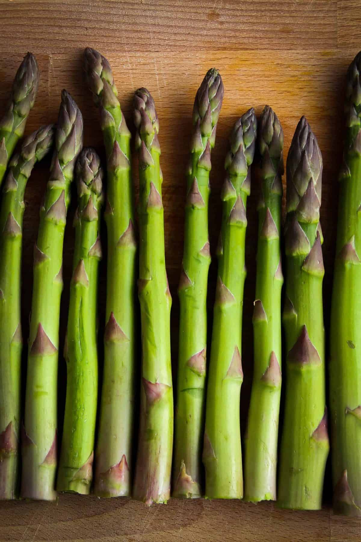 Bright green asparagus from the market.