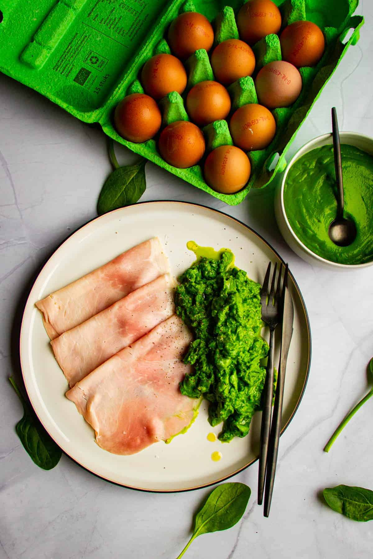 A recipe for green eggs and ham