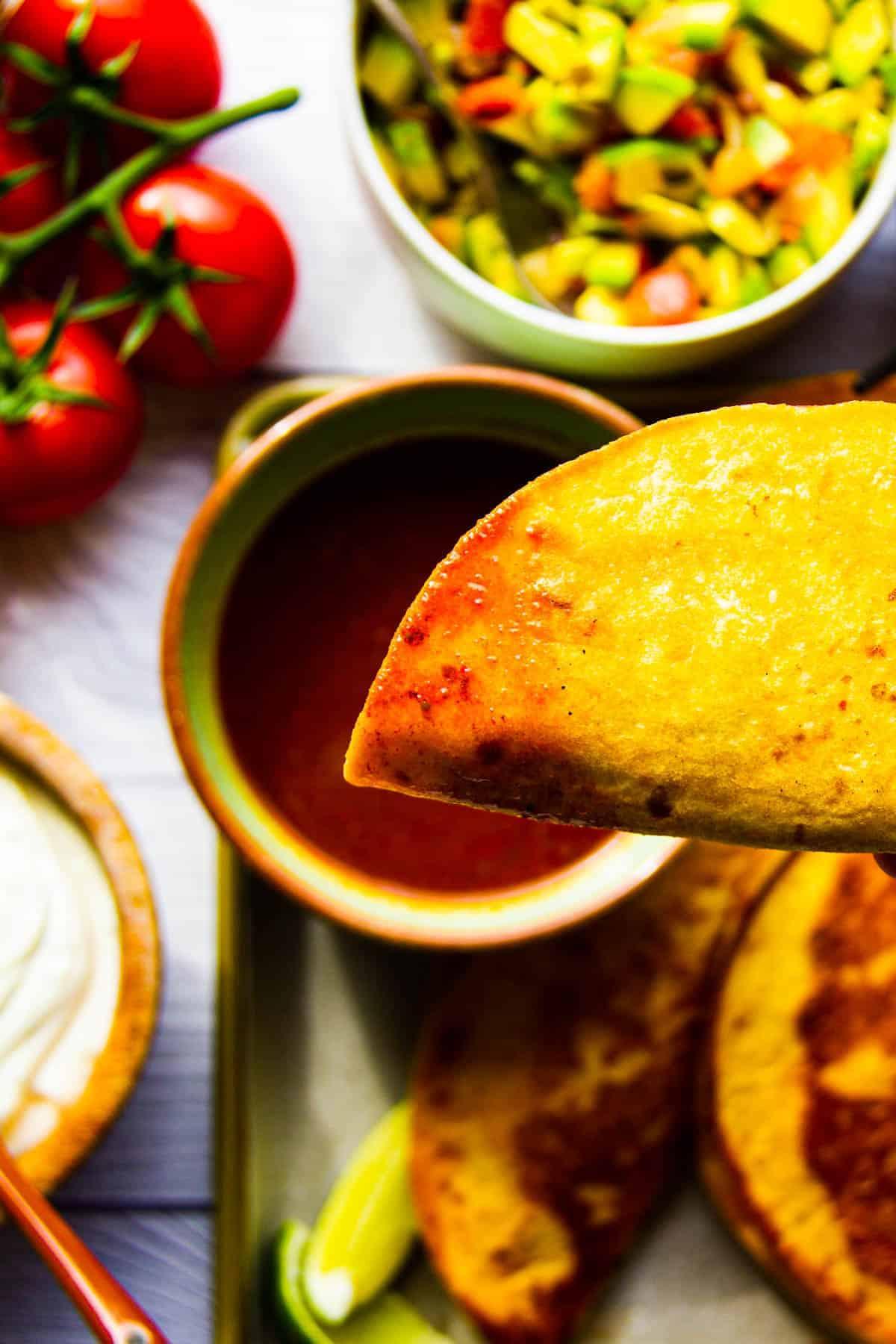 easy birria tacos close up