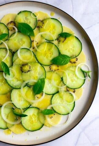 Cucumber salad carpaccio from Alain Passard