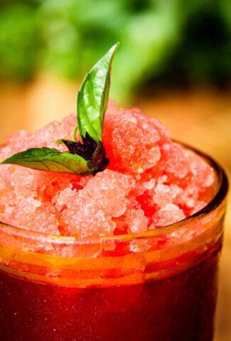 A vodka watermelon granita.
